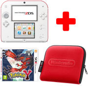 Nintendo 2DS Console (White & Red): Bundle includes Pokémon Y + Red Nintendo 2DS Case