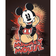 Mickey Mouse Sitting - Mini Poster - 40 x 50cm