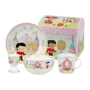 Little Rhymes Cinderella 4 Piece Breakfast Set Gift Box - Multi
