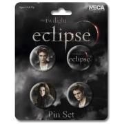 Twilight Eclipse Pin Set Edward and Bella