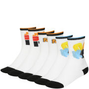 Nike Kid's 3 Pack Graphic Crew Socks - White