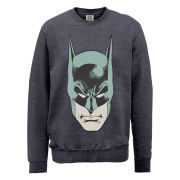DC Comics Sweatshirt - Batman Head - Steel Grey
