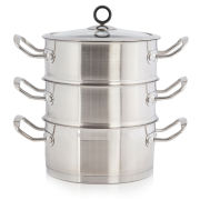 Morphy Richards Accents 3 Tier Steamer 18cm - Stainless Steel