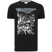 Lacoste L!ve Men's Graphic Print T-Shirt - Black/White