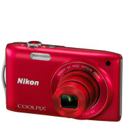 Nikon Coolpix S3200 Compact Digital Camera (16MP, 6x Optical Zoom, 2.7 Inch LCD) - Red - Grade A Refurb