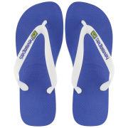 Havaianas Men's Brasil Logo Flip Flops - Blue