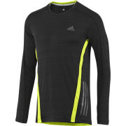 adidas Men's Supernova Long Sleeve Tee - Black/Electricity