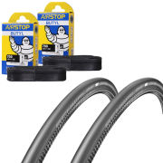 Schwalbe One Folding Clincher Tyre Twin Pack with 2 Free Inner Tubes - 700 x 25C