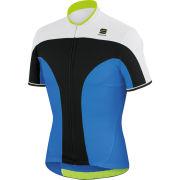 Sportful Crank 3 Short Sleeve Jersey - Blue/Black/White