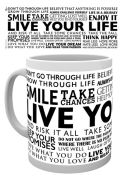 Live Your Life Quotes - Mug