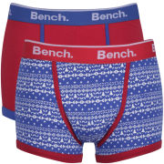 Bench Men's 2-Pack Aztec Printed Fashion Boxers - Blue