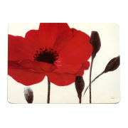 Set of 4 Red Poppies Placemats