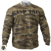 GASP Thermal Gym Sweater - Camo Print