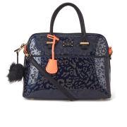 Paul's Boutique Women's Maisy Leopard Print Bowler Bag - Navy