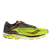 Saucony Men's Cortana 4 Neutral Running Shoes (Medium Width) - Citron/Orange/Black
