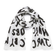 Marc by Marc Jacobs Women's Adults Suck Logo Scarf - Antique White Multi