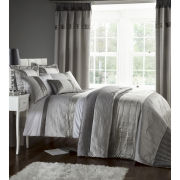 Catherine Lansfield Gatsby Duvet Cover - Silver
