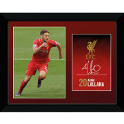 Liverpool Lallana 14/15 - Framed Photographic - 16x12