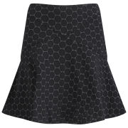 Marc by Marc Jacobs Women's Fit and Flair Skirt - Black Multi