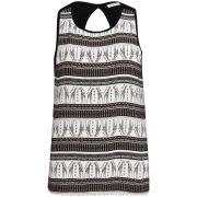 Brave Soul Women's Giraffe Print Vest - Black
