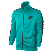 Nike Men's Tribute Track Jacket - Dusty Cactus Green/Black