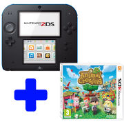Nintendo 2DS Black & Blue Console: Bundle includes Animal Crossing: New Leaf