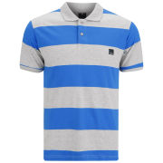 Bench Men's Impede Polo Shirt - Grey Marl/Blue