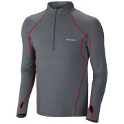Columbia Men's Midweight 1/2 Zip Baselayer Thermal Top - Graphite/Red