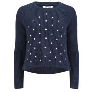 ONLY Women's Lisa Box Knitted Jumper - Navy