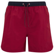 Brave Soul Men's Coast Swim Shorts - Red/Navy