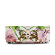 Ted Baker Salee Jungle Orchid Resin Bar Clutch Bag - Shell