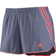 Adidas Women's Adizero SPL Shorts - Shade Grey/Red Zest - L - No Packaging, May Have Small Cosmetic Marks