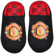 Bafiz Boys' MUFC Defender Mules - Black/Red