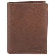 OSPREY LONDON Conker Large Leather Coin Wallet - Chocolate