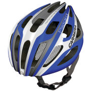 Carrera Pistard Road Helmet with Rear Light Blue/White
