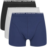 Bjorn Borg Men's Triple Pack Boxer Shorts - White/Blue/Black