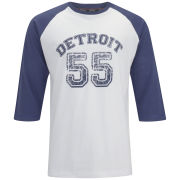 55 Soul Men's Ricky 3/4 Sleeve Detroit Raglan Top - Navy/White