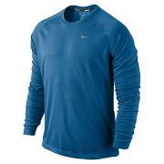 Nike Men's Miler Long Sleeve Running T-Shirt - Military Blue