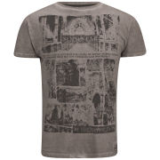 Soul Star Men's Graves T-Shirt - Light Burgundy