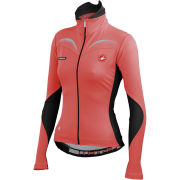 Castelli Women's Trasparente Long Sleeve Full Zip Jersey - Coral