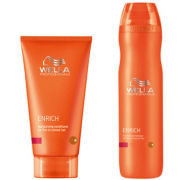 Wella Professionals Enrich Moisturising Duo for Coarse Hair- Shampoo & Conditioner