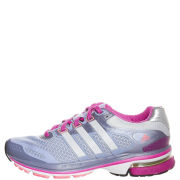 adidas Women's Supernova Glide 5 Running Shoe - Priam Blue/Metallic Silver/Blast Pink
