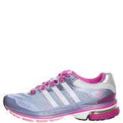 adidas Women's Supernova Glide 5 Running Shoe - Priam Blue/Metallic Silver/Blast Pink