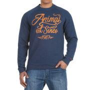 Animal Men's Branded Sweat - Navy