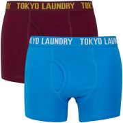 Tokyo Laundry Men's Mount Choovio 2-Pack Boxers - Oxblood/Swedish Blue