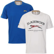 Slazenger Men's 2-Pack T-Shirts - White/Royal