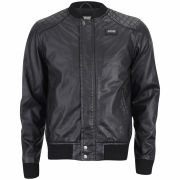 Ecko Men's Hip Hop Leather Look Jacket - Black