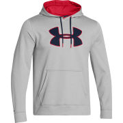 Under Armour Men's Af Storm Big Logo Hoody - True Grey Heather/Red/Academy