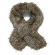 Unreal Fur Women's Furocious Thread Through Scarf - Natural Raccoon
