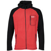 55 Soul Men's Zion Zip Through Fleece Sweatshirt - Red/Black